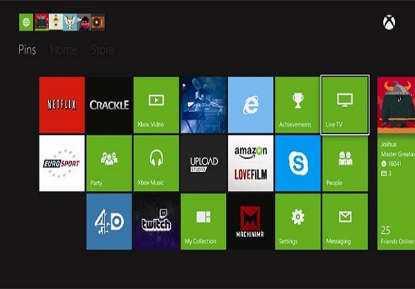 Xbox One Live Subscription for Streaming Apps
