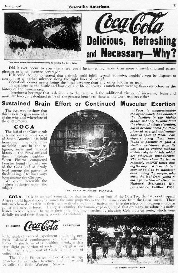 At first, Coca Cola was marketed as a remedy for several ailments including that of low sexual libido.
