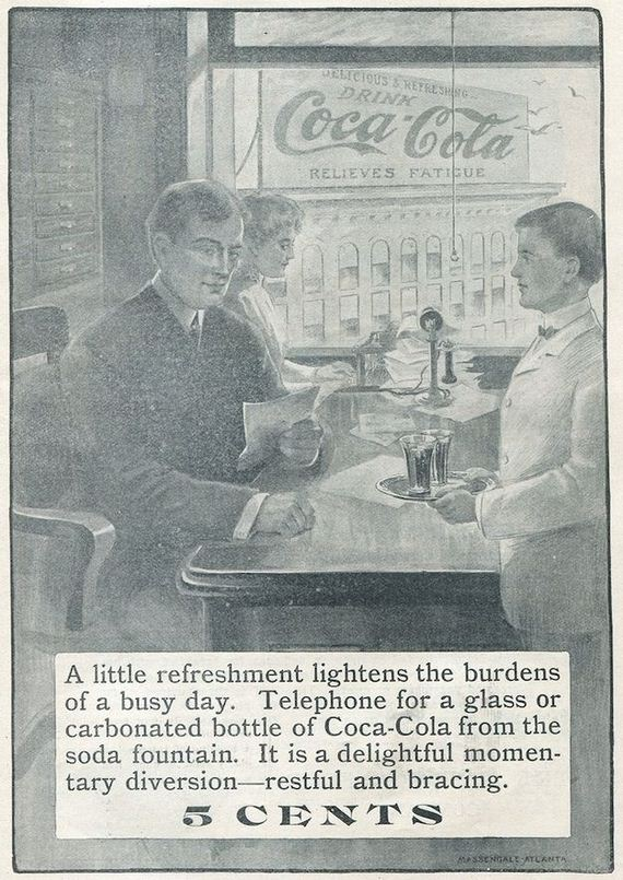 Originally it cost five cents per glass.